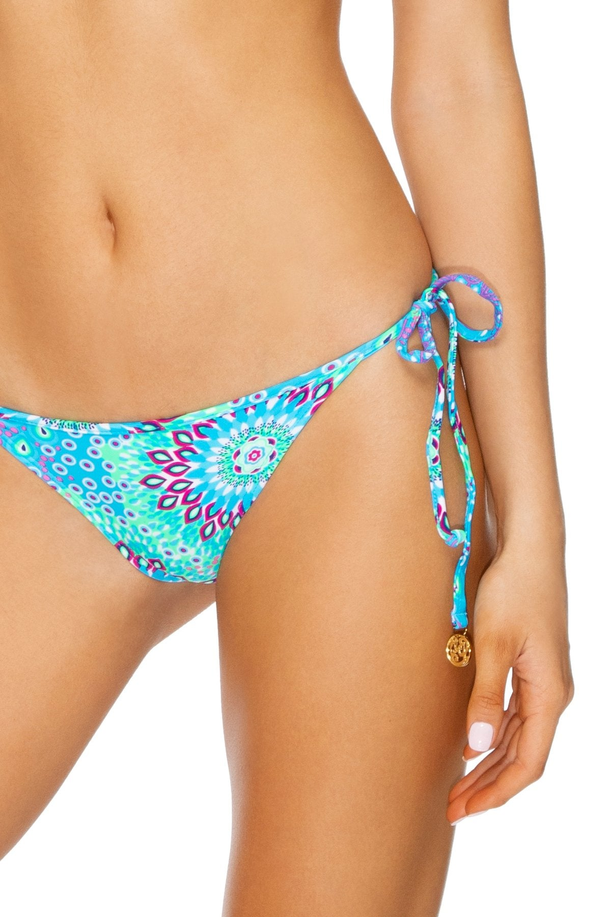 GOTAS DE CRISTAL - Molded Cup Tri Halter & Gathered Back Tie Side Brazilian • Multicolor