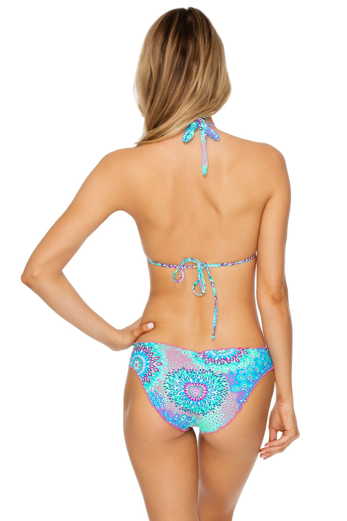 GOTAS DE CRISTAL - Molded Cup Tri Halter & Full Ruched Back Bottom • Multicolor