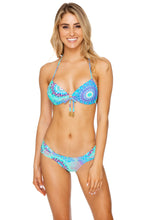 GOTAS DE CRISTAL - Molded Push Up Bandeau Halter & Scrunch Side Full Bottom • Multicolor