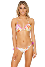 CHA CHA CHA - Ruffle Triangle Top & Ruched Back Wavey Bow Tie Side • Multicolor