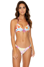 CHA CHA CHA - Molded Push Up Bandeau Halter & Softside Fully Ruched Brazilian • Multicolor