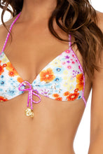 CHA CHA CHA - Molded Push Up Bandeau Halter & Adjustable Side Ruched Back • Multicolor