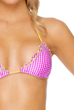 CORAZON LATINO - Wavey Triangle Top & Wavey Brazilian Tie Side • Berry