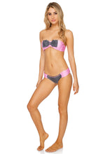 CORAZON LATINO - Bow Bandeau Top & Scrunch Side Moderate Bottom • Black