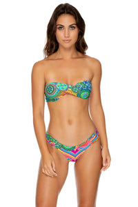 MIAMI MIX - Twist Bandeau Top & Scrunch Side Moderate Bottom • Multicolor