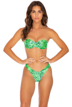 ROCKSTAR - Underwire Push Up Bandeau Top & High Leg Bottom • Neon Lime