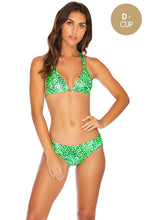 ROCKSTAR - Triangle Halter Top & Seamless Full Ruched Back Bottom • Neon Lime (3924790411366)