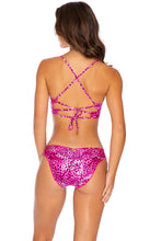 ROCKSTAR - Underwire Top & Seamless Full Ruched Back Bottom • Neon Pink