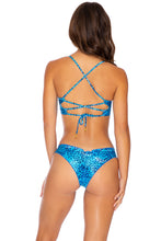 ROCKSTAR - Underwire Top & Drawstring Ruched  Bottom • Blue