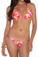 COMPARSITA - D Cup Tri Halter Top & Moderate Tie Side Bottom • Multicolor