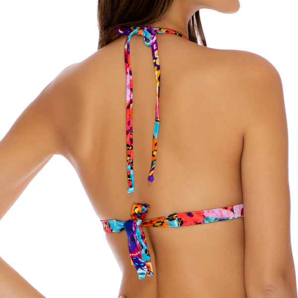 CUBANA PELIGROSA - Adjustable Front Molded Tri Halter