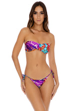 CUBANA PELIGROSA - Twist Bandeau Top & Tie Side Moderate • Multicolor