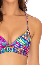 RETRO CRUSH - Underwire Top & Seamless Wavey Ruched Back Bottom • Multicolor