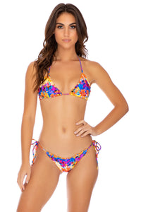 DULCE TORMENTO - Wavey Triangle Top & Tie Wavey Brazilian Bottom • Multicolor