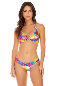 DULCE TORMENTO - Va Va Voom Underwire Top & Scrunch Side Full Bottom • Multicolor