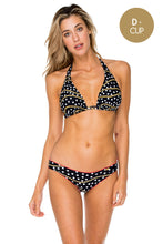 CLUB TROPICANA - D Cup Triangle Halter & Full Ruched Back • Black