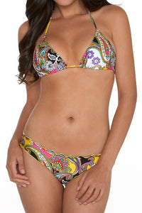 FIESTA Y CARIBE - Ring Triangle Top & Full Ruched Back Btm • Multicolor