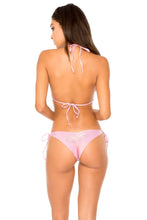 AY DIOS MIO - Wavey Triangle Top & Wavey Tie Side Ruched Brazilian • Rose Champagne