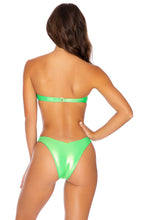 HEAVY METAL - Underwire Push Up Bandeau Top & High Leg Bottom • Neon Lime