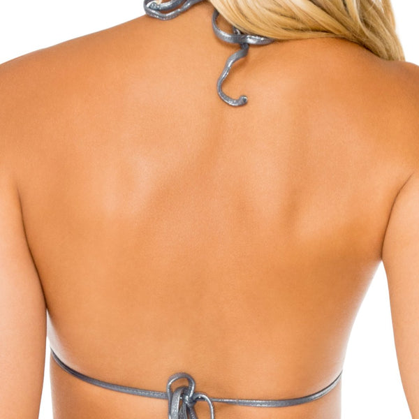 HEAVY METAL - Molded Push Up Bandeau Halter Top
