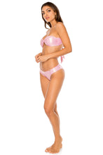 AY DIOS MIO - Twist Bandeau & Full Coverage Ruched Back • Rose Champagne