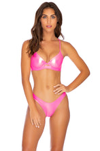 HEAVY METAL - Underwire Top & High Leg Bottom • Neon Pink