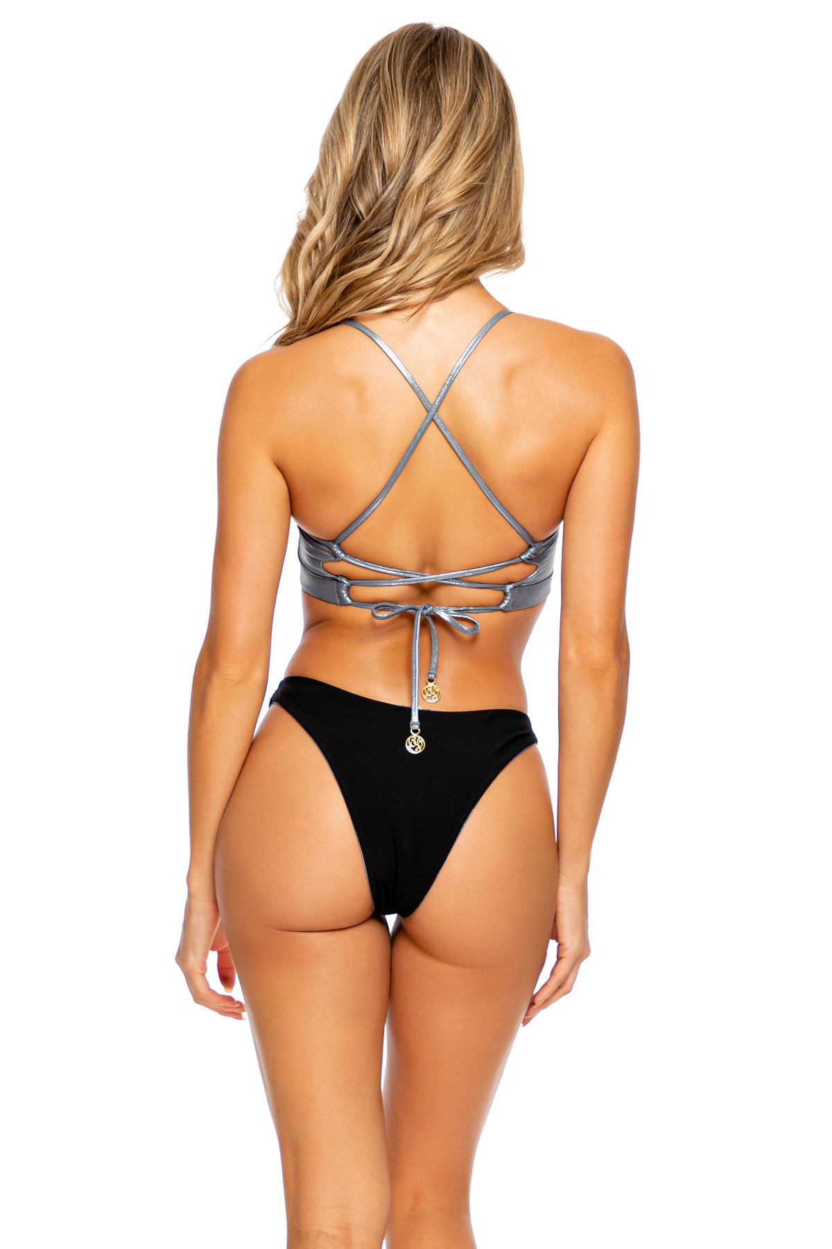 HEAVY METAL - Underwire Top & High Leg Bottom • Vip Platinum