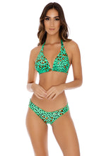 DALE GUAPA - D Cup Triangle Halter & Full Coverage Ruched Back • Mint