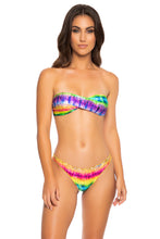 AFTERGLOW - Twist Bandeau Top & Drawstring Back Scrunch Bottom • Multicolor
