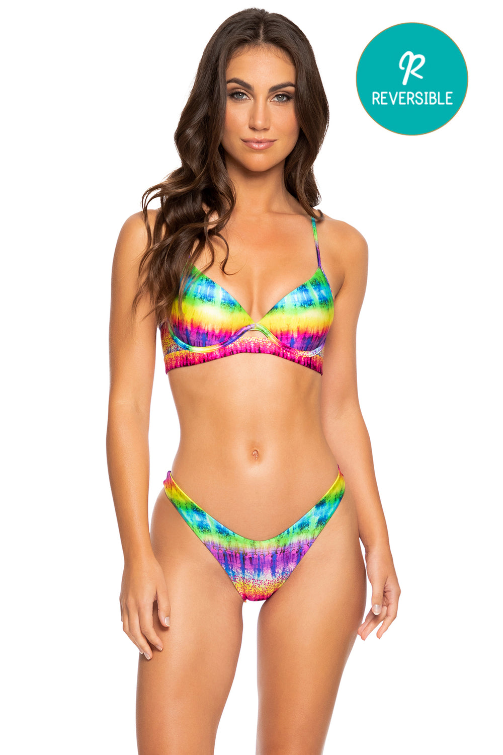 AFTERGLOW - Underwire Top & High Leg Bottom • Multicolor