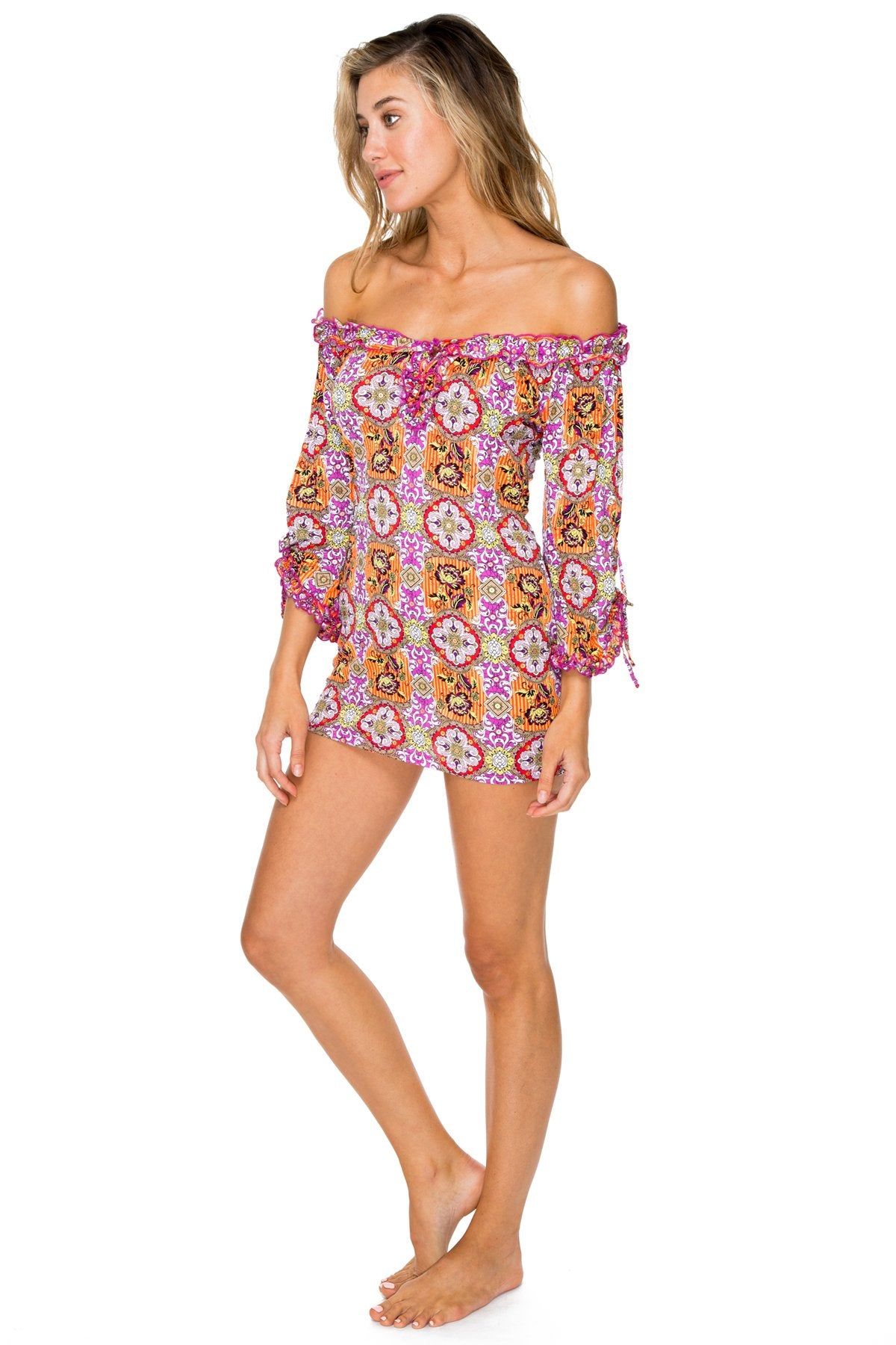 FLOR DE VERANO - Ruffle V Neck Dress • Multicolor
