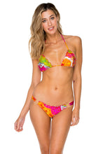 PIEL DE DIOSA - Wavey Triangle Top & Wavey Ruched Back Brazilian Bottom • Multicolor