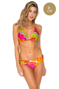 PIEL DE DIOSA - Triangle Halter Top & Contempo Soft Band Full Bottom • Multicolor