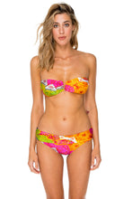 PIEL DE DIOSA - Gold V Ring Bandeau Top & Contempo Soft Band Full Bottom • Multicolor