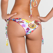 TEQUILA Y SAL - Wavey Ruched Back Brazilian Tie Side Bottom