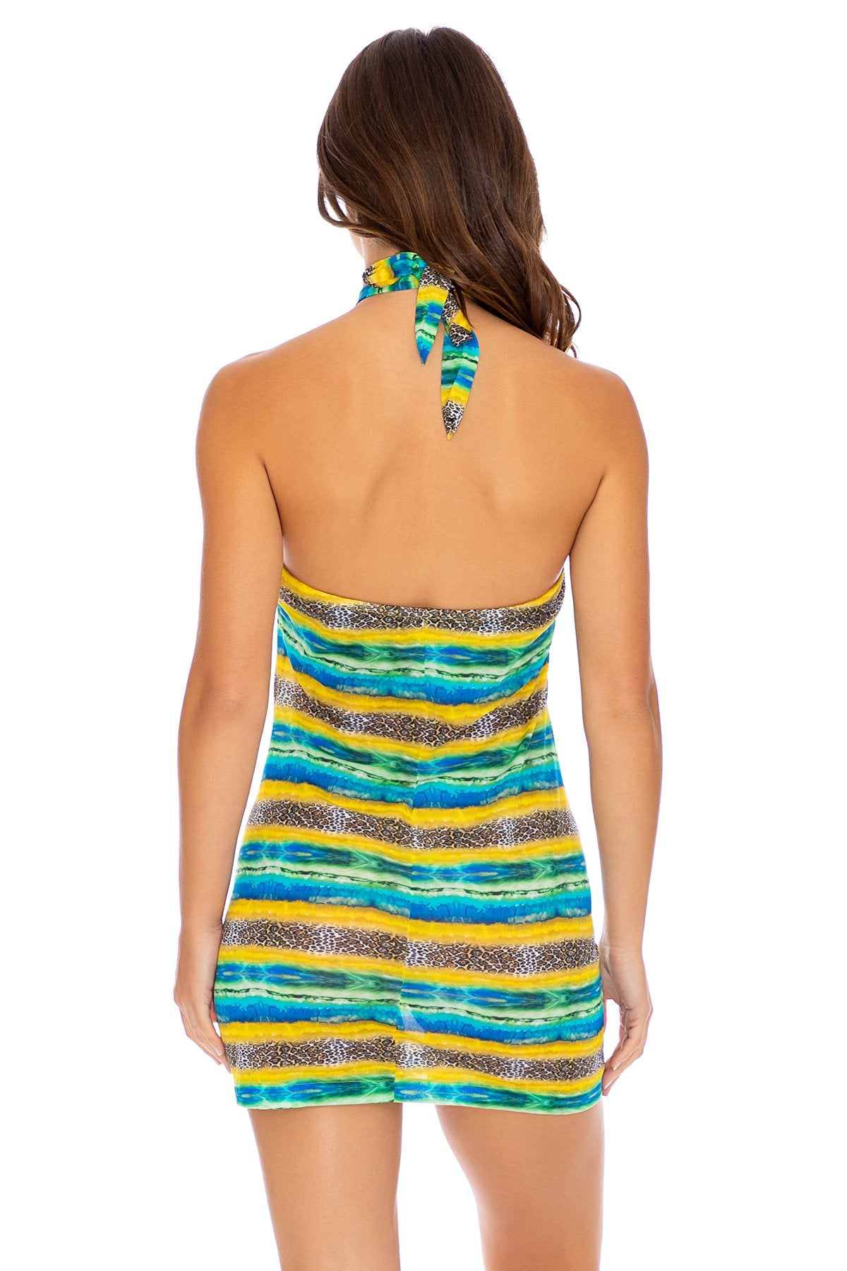 OLAS INFINITAS - Scarf Top Short Dress • Multicolor