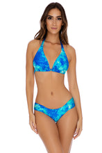 ANTOJITOS DEL MAR - D Cup Triangle Halter & Scrunch Side Full Bottom • Multicolor