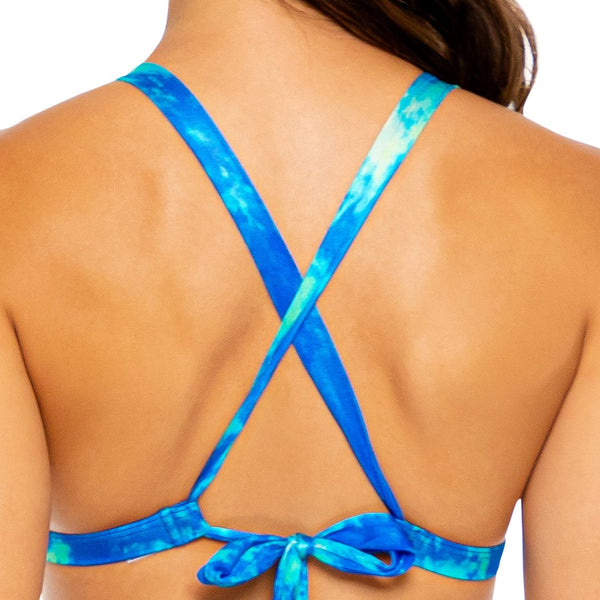 ANTOJITOS DEL MAR - Cristalized Adjustable Back Halter Top