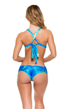 ANTOJITOS DEL MAR - Crystallized Adjustable Back Halter Top & Scrunch Ruched Back Brazilian Bottom • Multicolor