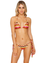 MAGICO DELIRIO - Wavey Triangle Top & Wavey Ruched Back Brazilian Tie Side Bottom • Multicolor