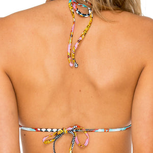PARTY PRINCESS - Molded Push Up Bandeau Halter Top