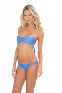 CUBA LIBRE - Criss Cross Bandeau Top With Removable Tassel & Hot Buns Bottom • Sea Angel