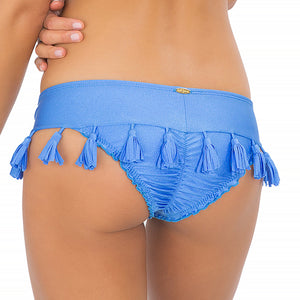 CUBA LIBRE - Tassels Band Ruched Minimal Coverage Bottom