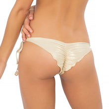 MOON OVER MIAMI - Wavey Ruched Back Brazilian Tie Side Bottom