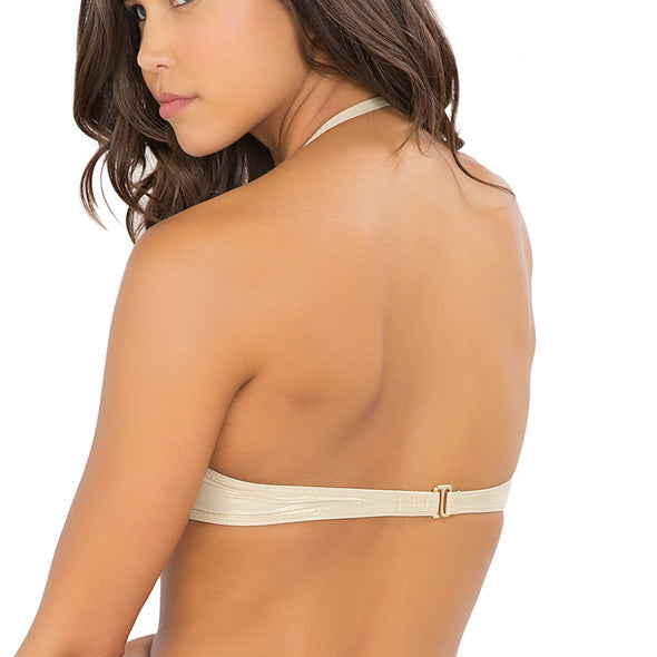 MOON OVER MIAMI - Ruched Underwire Push Up Bandeau Top