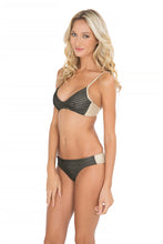 MOON OVER MIAMI - Criss Cross Back Bra Top & Seamless Full Bottom • Black