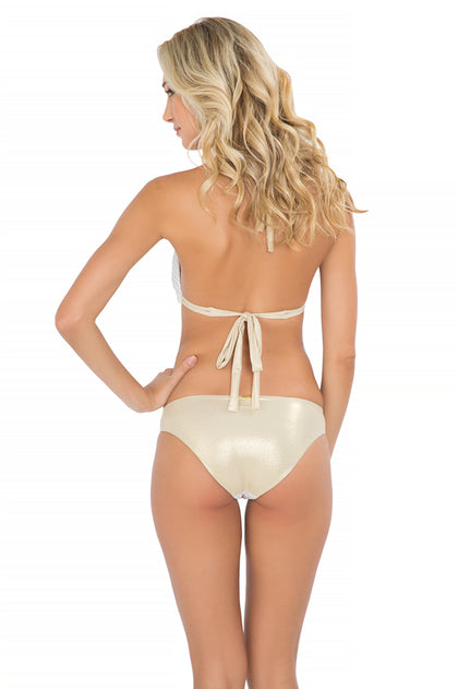 MOON OVER MIAMI - Triangle Halter Top & Seamless Full Bottom • White