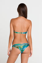 PERLA DEL CARIBE - Underwire Push Up Bandeau Top & Multi Strings Brazilian Ruched Back Bottom • Multicolor
