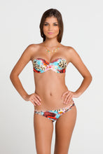 LA ISLA BONITA - Underwire Push Up Bandeau Top & Multi Strings Brazilian Ruched Back Bottom • Multicolor