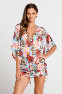 LA ISLA BONITA - Cabana V Neck Dress • Multicolor (862522409004)